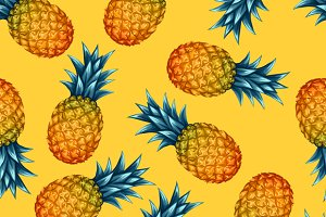Pattern with pineapples.