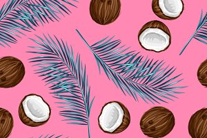 Pattern with coconuts.
