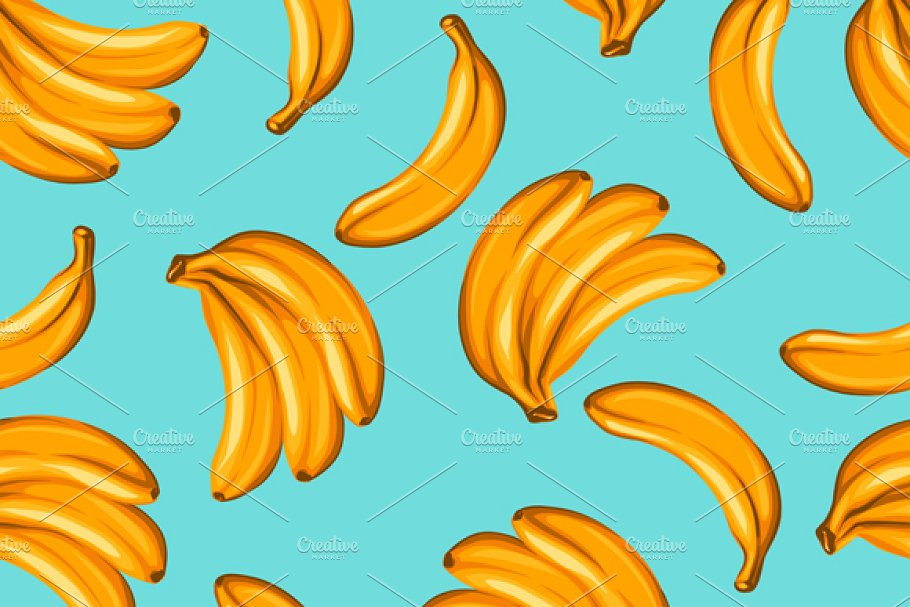 Pattern with bananas.