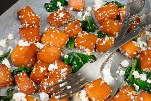pumpkin with spinach