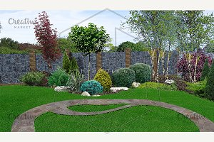 Backyard horticultural background
