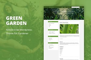 Green Garden - Cheap WordPress Theme