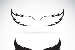 Vector black wing icon