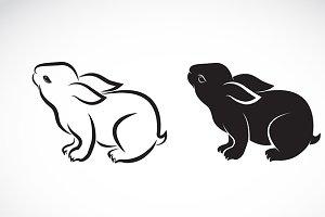 Vector image of an rabbit design