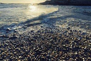 waves in pebble beach