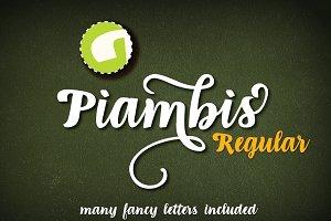 Piambis open type font