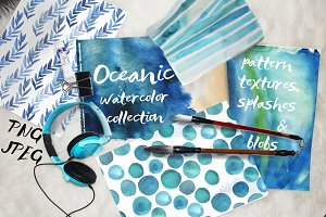 Oceanic watercolor collection!