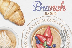 Detailed Brunch Illustrations