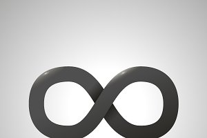 Black simple Infinity sign