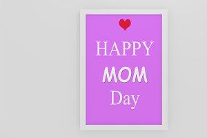 Happy Mom's Day Typography Poster