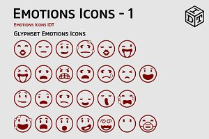 Emotions Icons + Web Font(Free)