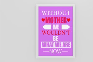 Happy Mother's Day Quote Poster
