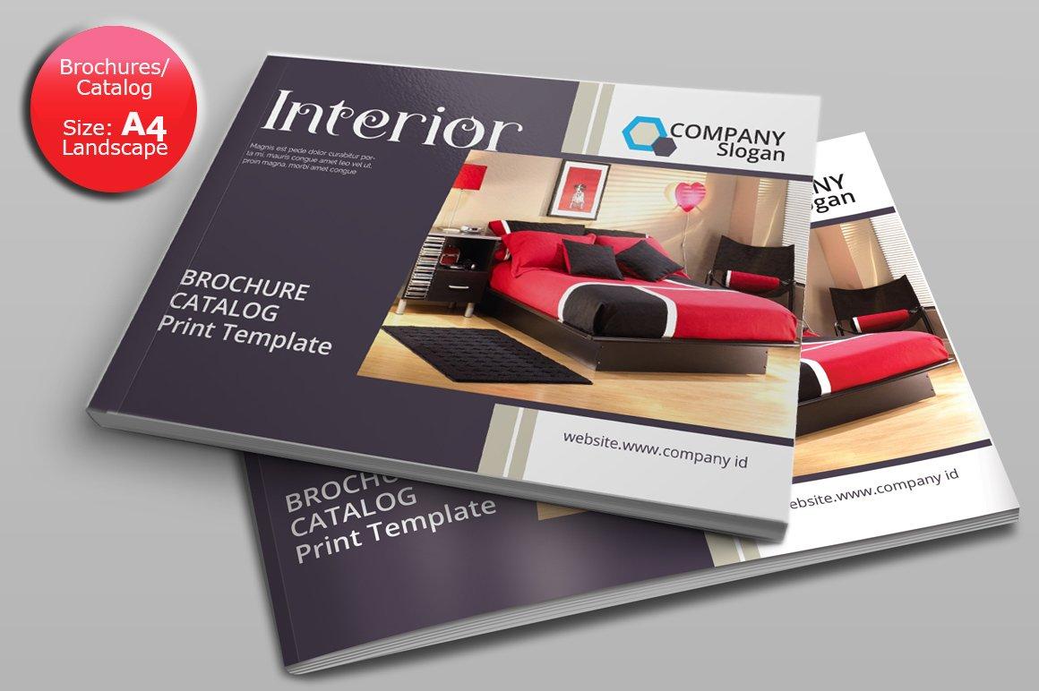 A4 brochurescatalogs landscape brochure templates creative market saigontimesfo
