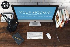 iMac mockup top view_5k