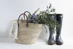 French Market Tote and Wellies