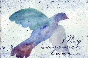 Bird watercolor background