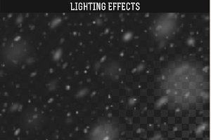 Snow realistic effect. Rain