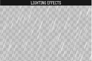 Rain realistic effect.