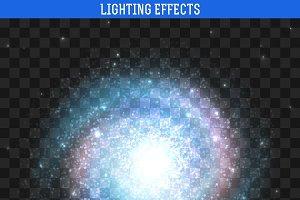 Galaxy effect. Spiral galaxy