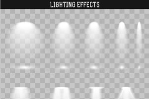 Set light effect. Ies light