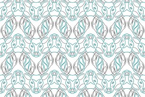 Pattern background with the deer