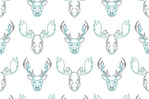 Seamless patterns with elk