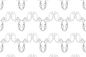 Pattern background with a deer