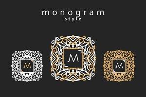 Elegant floral monogram design