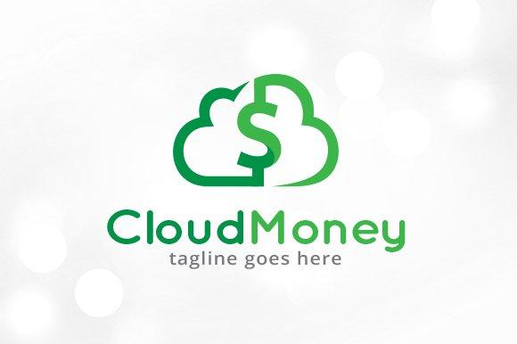 cloud money logo template logo templates creative market
