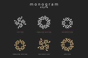 Design element . Emblem design
