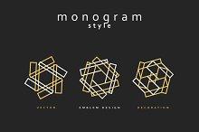 Set of elegant monogram design
