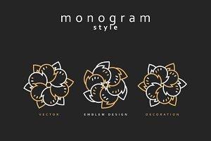 Design element. Emblem design