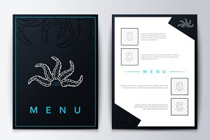 Design menu. Brochure culinary menu