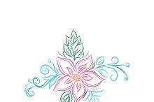 floral design, flower, sketch