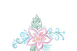 floral design, flower, sketch