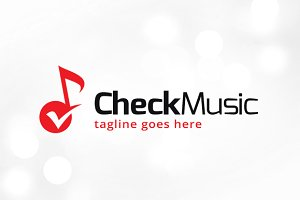 Check Music Logo Template