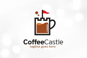 Coffee Castle Brand Logo Template
