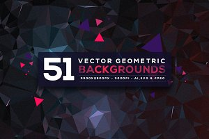 51 Vector Geometric Backgrounds V.4