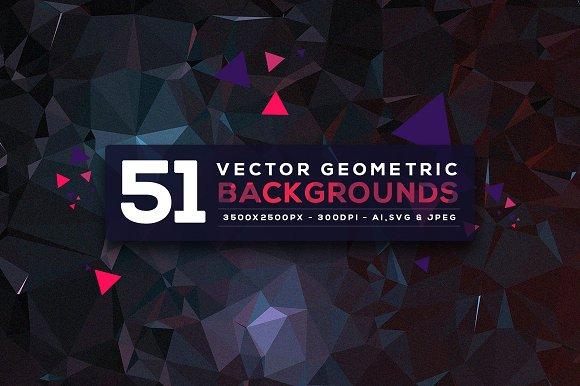 51 Vector Geometric Backgrounds V.4 - Patterns