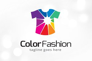 Color Fashion Logo Template