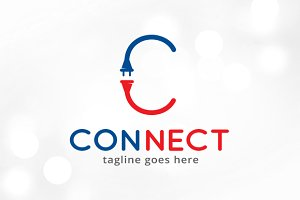 Connect Letter C Logo Template