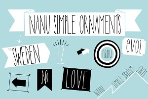 Nanu Simple Ornaments