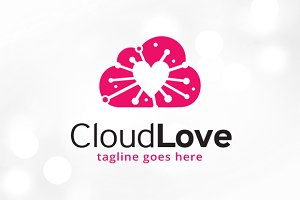 Cloud Love Logo Template
