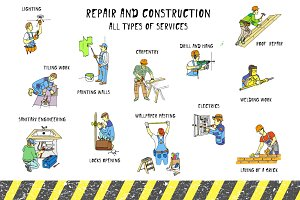 Repair & Construction. First May set