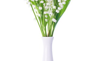 Bouquet of white flowers lilies