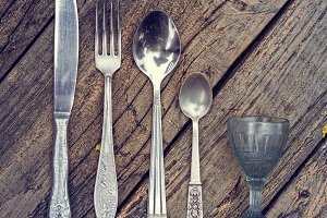 Set of vintage silverware