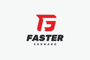 Faster - F G Monogram Logo