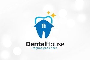 Dental House Logo Template