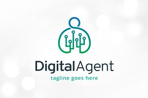 Digital Agent Logo Template