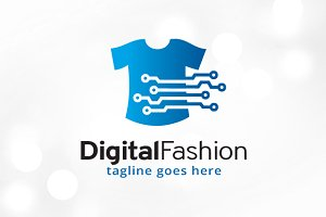 Digital Fashion Logo Template